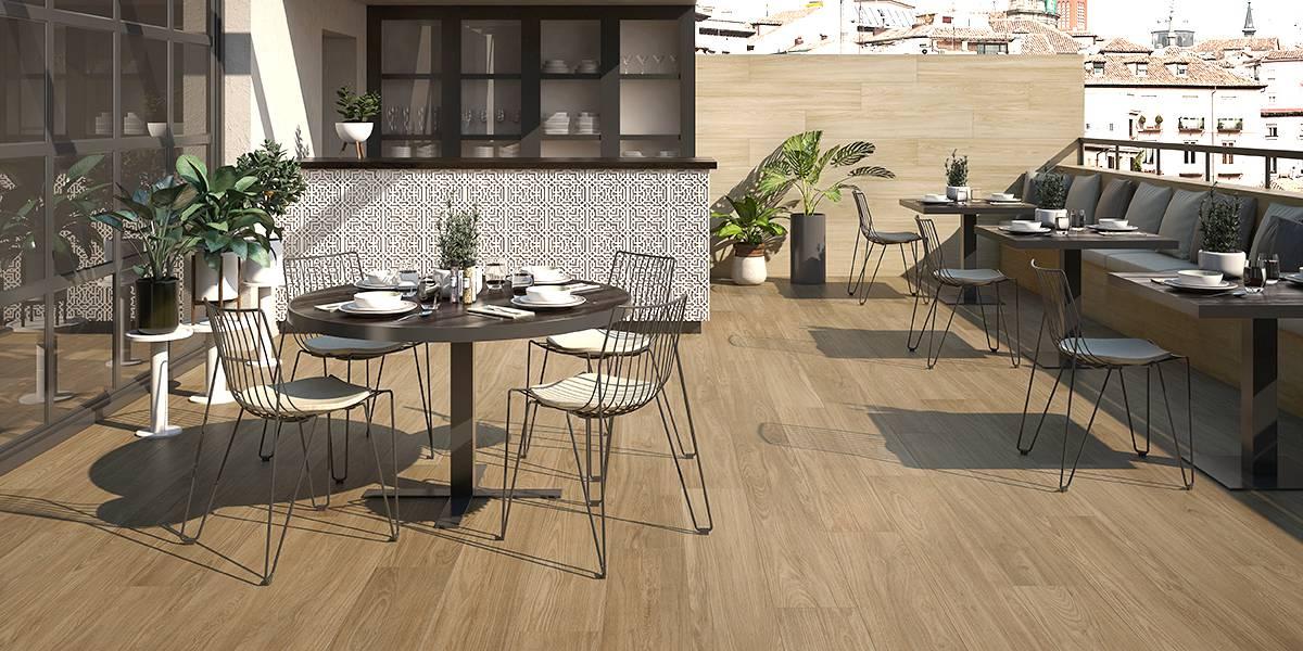 Consejos e ideas en el re styling de una terraza keraben for Pisos ceramicos para terrazas